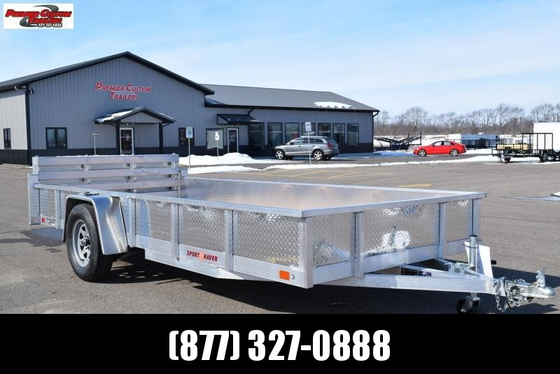 2020 SPORT HAVEN 6x14 OPEN UTILITY TRAILER w/ SIDES AND BI-FOLD RAMP