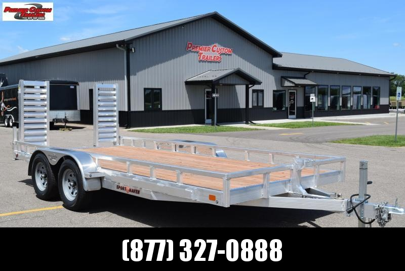 2020 SPORT HAVEN 7x16 HEAVY DUTY UTILITY TRAILER