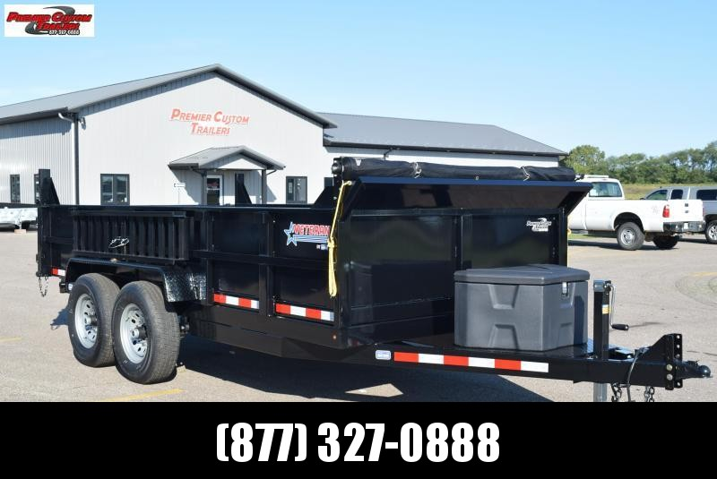 "2020 NATION 83""x14' VETERAN DUMP TRAILER"