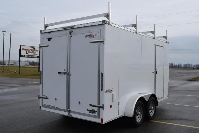 2020 BRAVO SCOUT 7x14 CONTRACTOR SERIES TRAILER w/LADDER RACKS