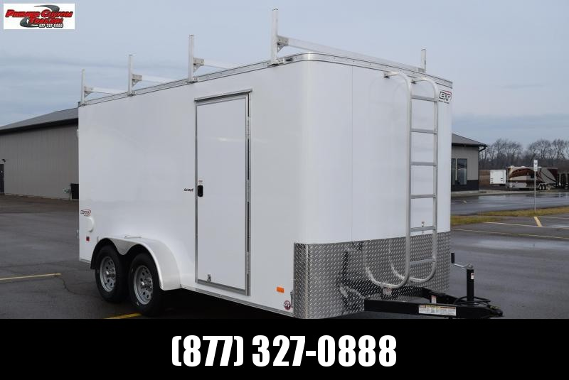 2020 BRAVO 7x14 SCOUT ENCLOSED CONTRACTOR TRAILER w/LADDER RACKS