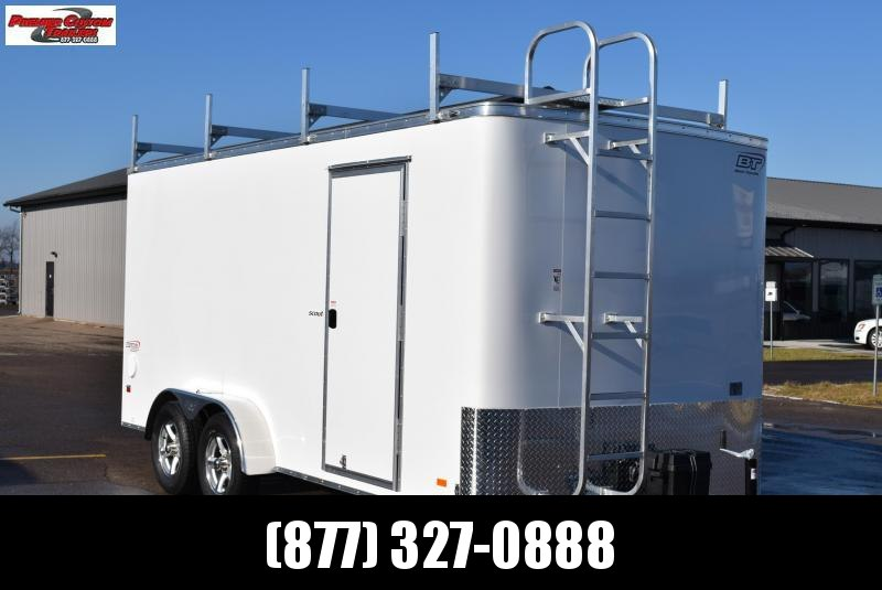 2020 BRAVO 7x16 SCOUT ENCLOSED CONTRACTOR TRAILER w/LADDER RACKS