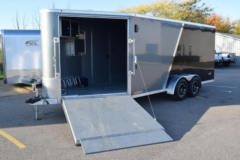 USED 2015 ATC 22' RAVEN ENCLOSED SNOWMOBILE TRAILER