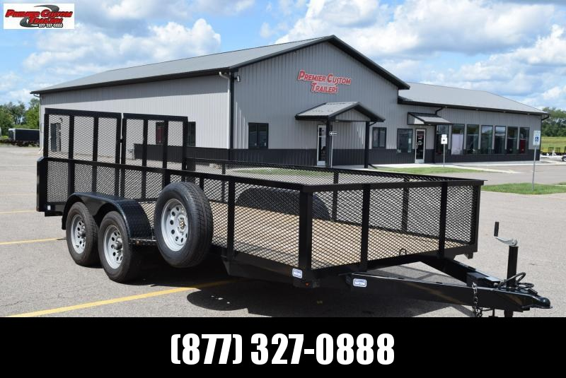 "2019 NATION 82""x16' OPEN LANDSCAPE TRAILER"