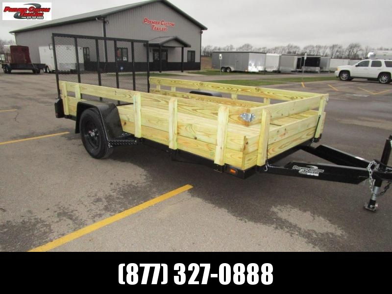 "2020 NATION 6'4""x12 OPEN UTILITY TRAILER"