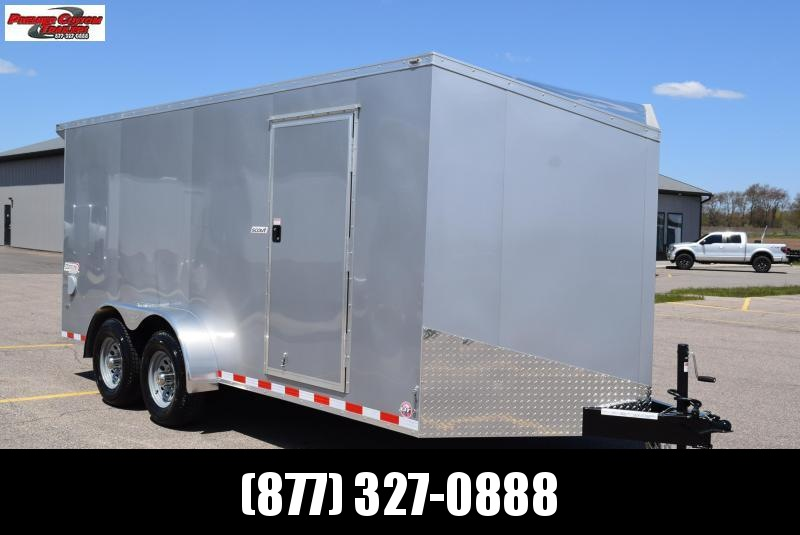 2020 BRAVO SCOUT 7x16 ENCLOSED CARGO TRAILER w/ 5200LB AXLES
