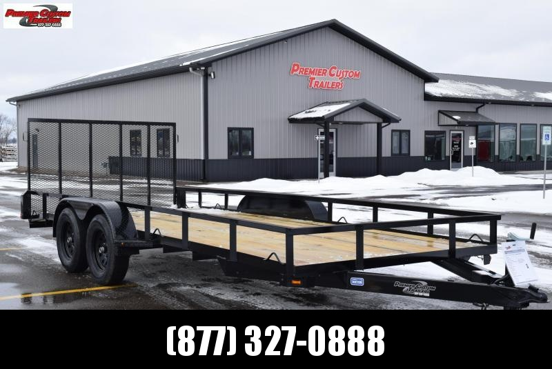 "2019 NATION 82""x18' OPEN LANDSCAPE TRAILER"