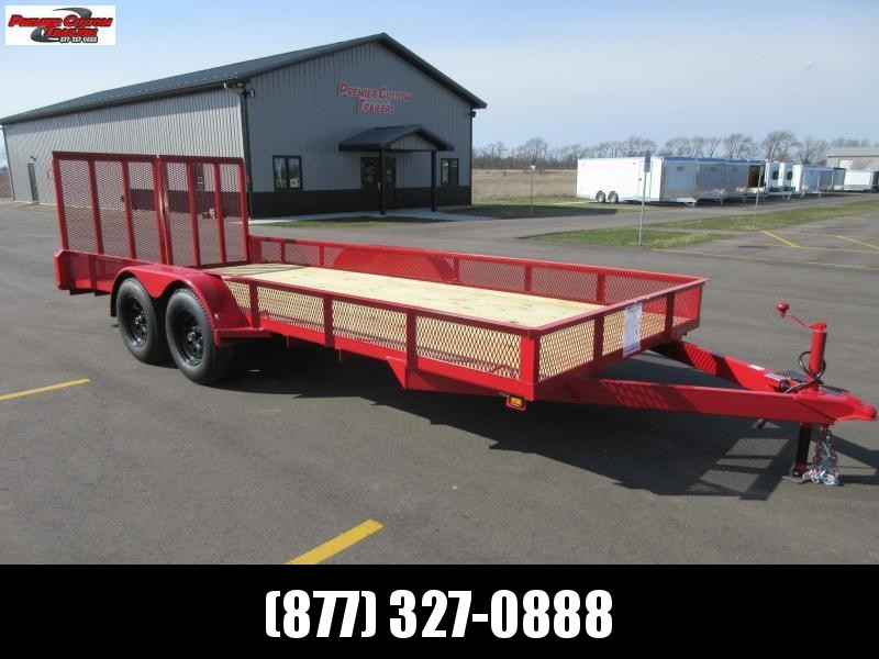 "2020 NATION 82""x18' OPEN LANDSCAPE TRAILER"