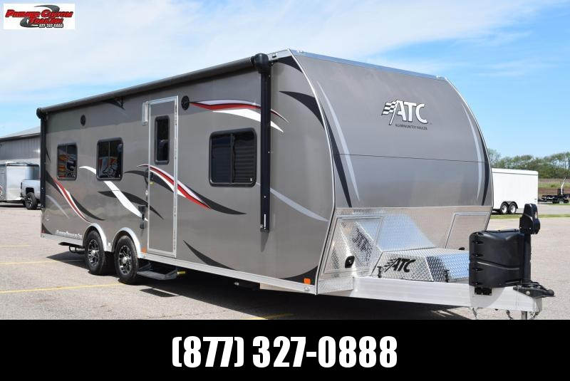 USED 2017 ATC 8.5x25 ALL ALUMINUM TOY HAULER w/ FRONT BEDROOM