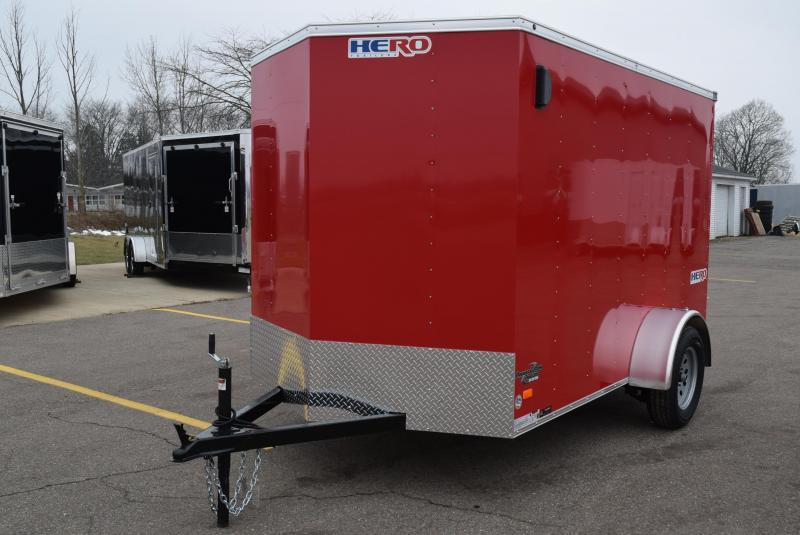 2020 BRAVO HERO 6x10 ENCLOSED CARGO TRAILER