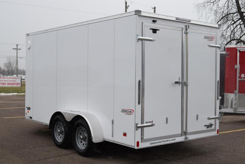 2020 BRAVO 7x14 SCOUT ENCLOSED CARGO TRAILER w/ DOUBLE DOORS