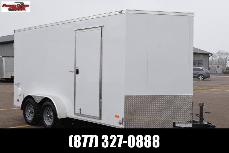 2020 BRAVO 7x14 SCOUT ENCLOSED CARGO TRAILER w/ DOUBLE DOORS