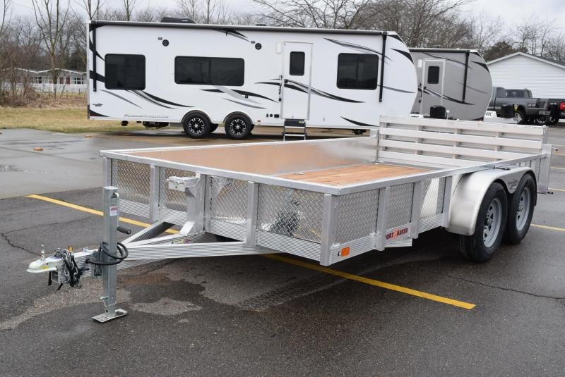2020 SPORT HAVEN 7x14 OPEN UTILITY TRAILER w/ SIDES AND BI-FOLD GATE