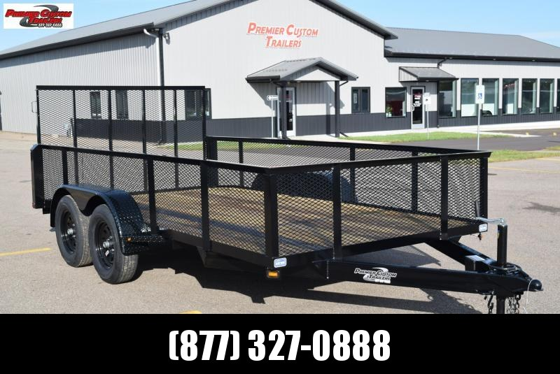 "2020 NATION 82""x14' OPEN LANDSCAPE TRAILER"
