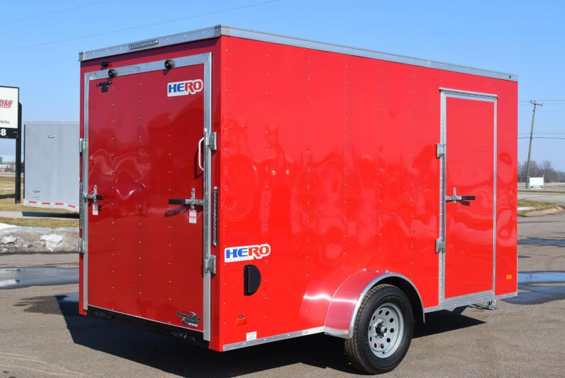 2020 BRAVO HERO 6x12 ENCLOSED CARGO TRAILER