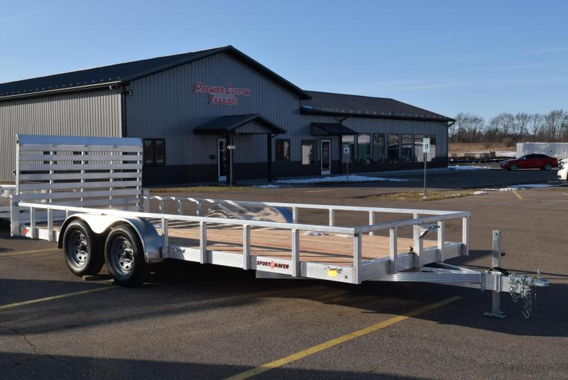 2020 SPORT HAVEN 7x18 OPEN UTILITY TRAILER