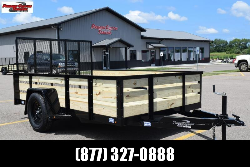 """2020 NATION 6'4""""x10 FIXED SIDE OPEN UTILITY TRAILER"""