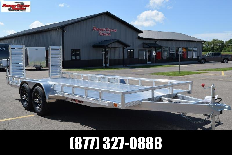2020 SPORT HAVEN 7x18 HEAVY DUTY UTILITY TRAILER