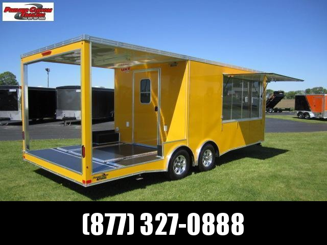 2020 8.5x16 REAR PORCH CONCESSION TRAILER