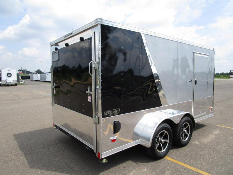 2020 BRAVO STAR 7x14 ENCLOSED MOTORCYCLE TRAILER