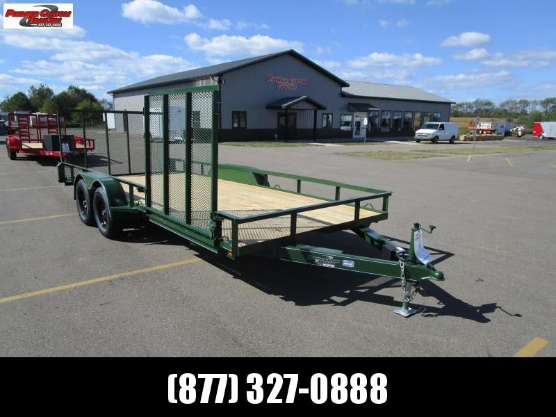 "2020 NATION 82""x18' OPEN LANDSCAPE TRAILER W/ SIDE RAMP GATE"