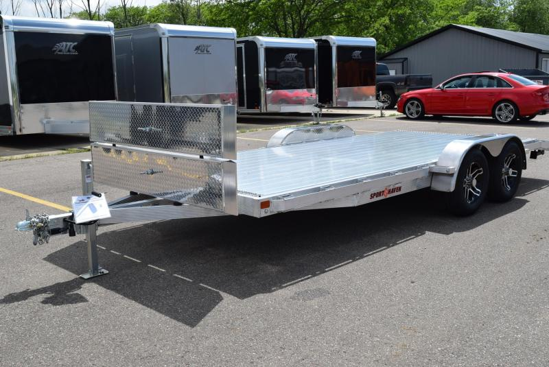 2020 SPORT HAVEN 18' DELUXE ALUMINUM OPEN CAR HAULER