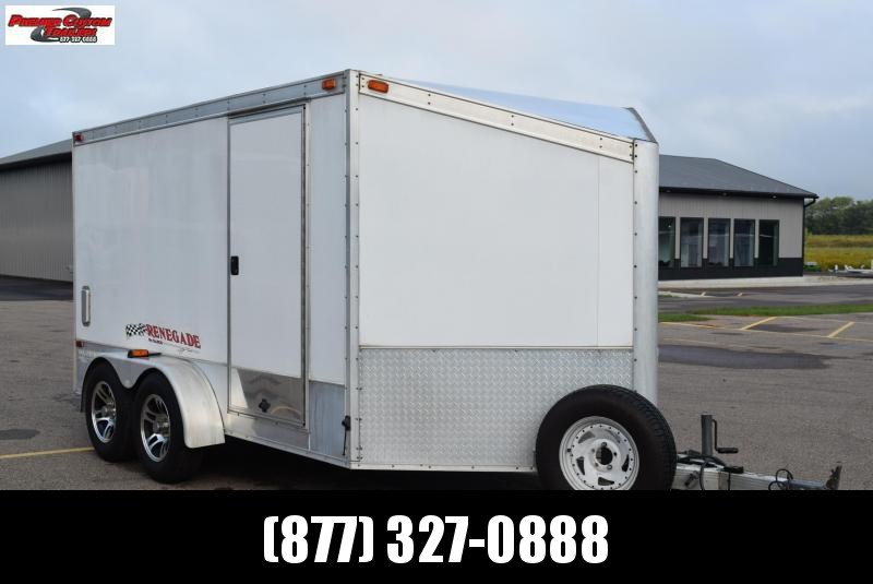 USED 2004 RENEGADE 7x12 WARRIOR ENCLOSED MOTORCYCLE TRAILER