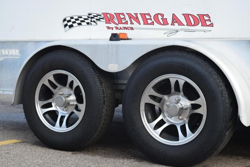 USED 2004 RENEGADE 7x12 WARRIOR ENCLOSED MOTORCYCLE TRAILER