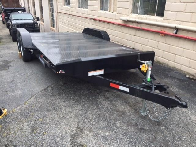 2019 Sure-Trac 7 X 18 7K Steel Deck Car Hauler Car / Racing Trailer