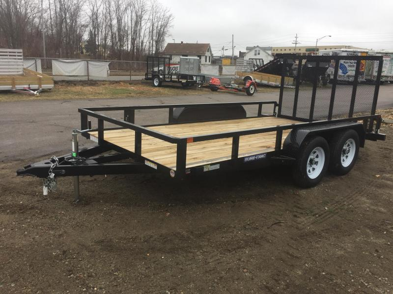 2020 Sure-Trac 7 X 14 TA Tube Top Utility Utility Trailer