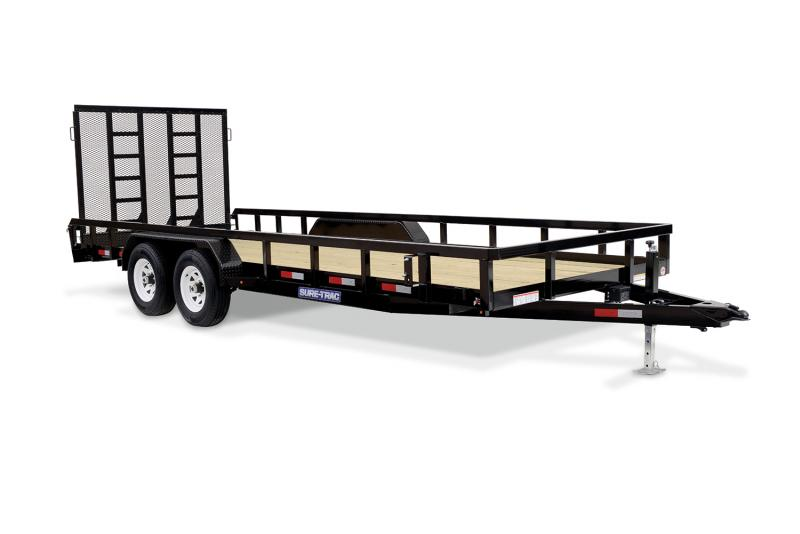 2020 Sure-Trac 7 X 18 TA 10K Tube Top Utility Utility Trailer