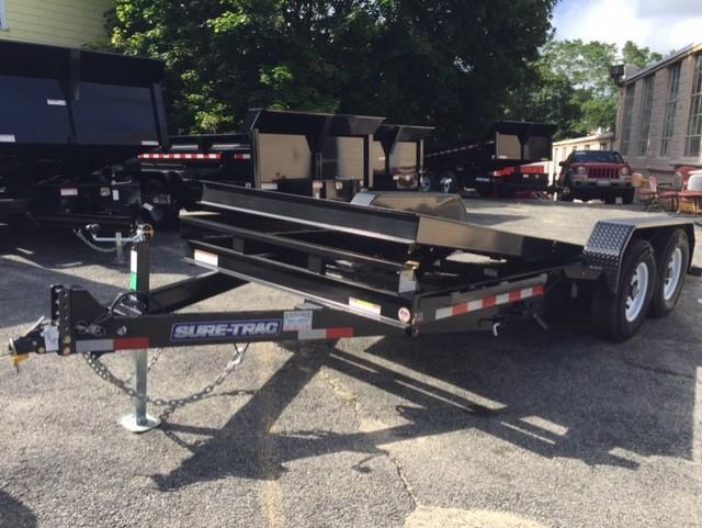 2020 Sure-Trac 82 X 18 10K Tilt Bed Equipment Equipment Trailer