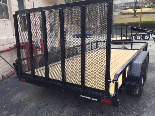 2019 Sure-Trac 7 X 14 Tube Top Utility Trailer