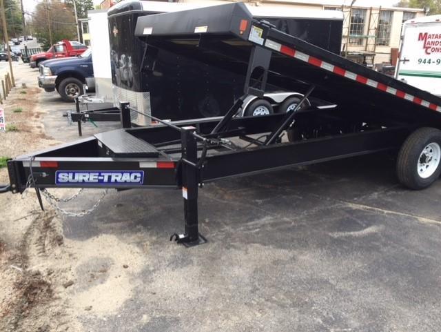 2020 Sure-Trac 8.5 x 22 15K HD Low Profile Power Tilt Deckover Flatbed Trailer