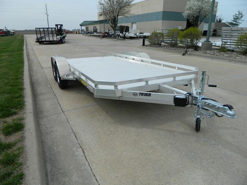 "2020 Aluma 78""x16' Flatbed Utility Trailer - 7k"