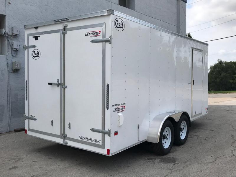 2020 Bravo 7'x16' Enclosed w/ Rear Barn doors