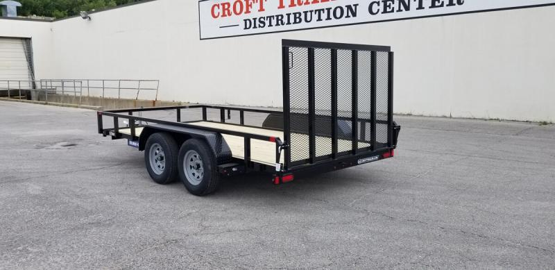 "2019 Sure-Trac 82""x14' Tube Top Utility Trailer w/ Brakes"