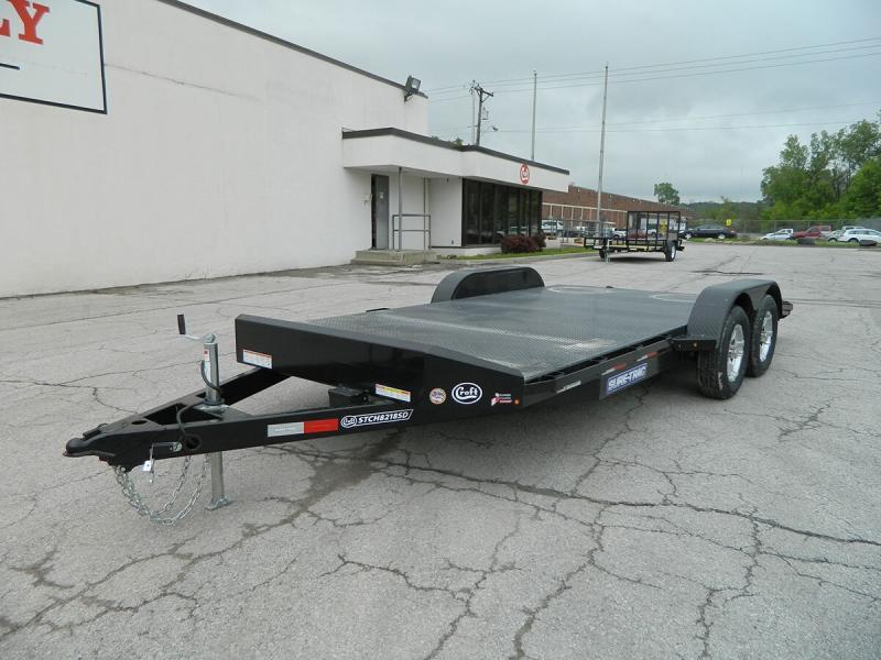 "2019 Sure-Trac 82""x18' Steel Deck Car Hauler - 7k"