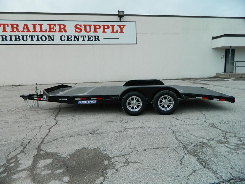 "2020 Sure-Trac 82""x18' Steel Deck Car Hauler - 7k"