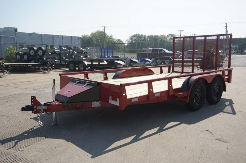 "Rice 82""x14' Pipe Top Utility Trailer"