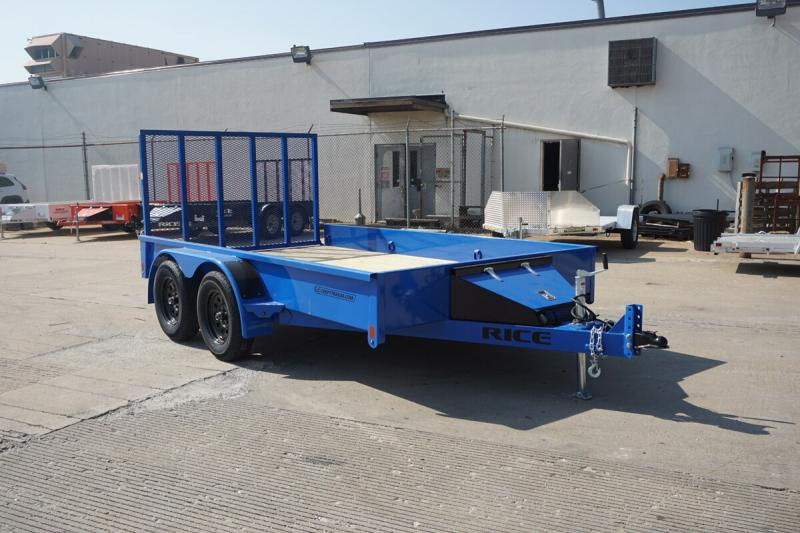 "2020 Rice 82""x12' Stealth Solid Side Utility Trailer"