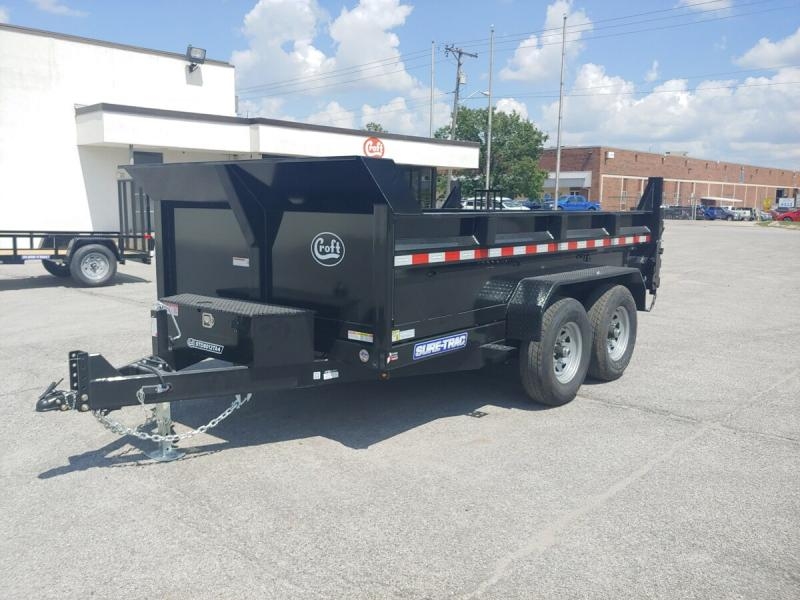 "2020 Sure-Trac 80""x12' HD Low Pro Dump Trailer - 12k"