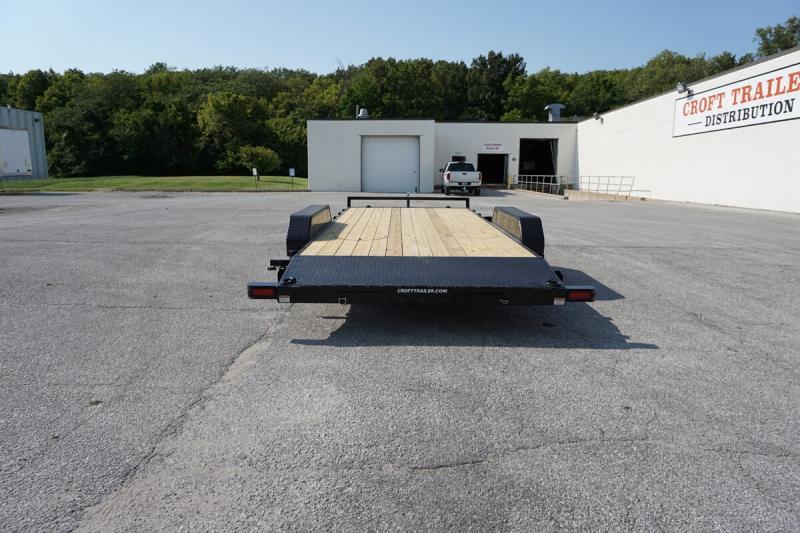 """2019 Sure-Trac 82""""x18' Wood Deck Car Hauler - 7k"""