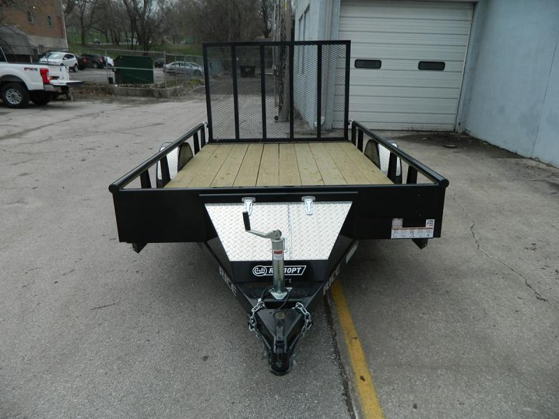 2019 Rice 6'x10' Pipe Top Utility Trailer