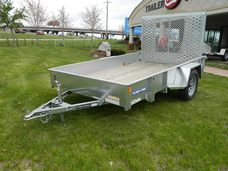 2018 Sure-Trac 6'x10' Galvanized Utility Trailer