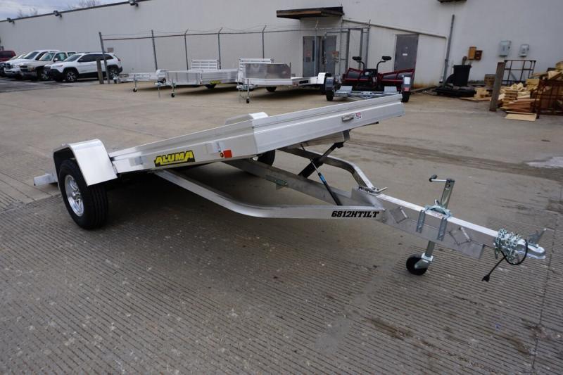 "2020 Aluma 68""x12' Aluminum Tilt Utility Trailer - 3.5k"