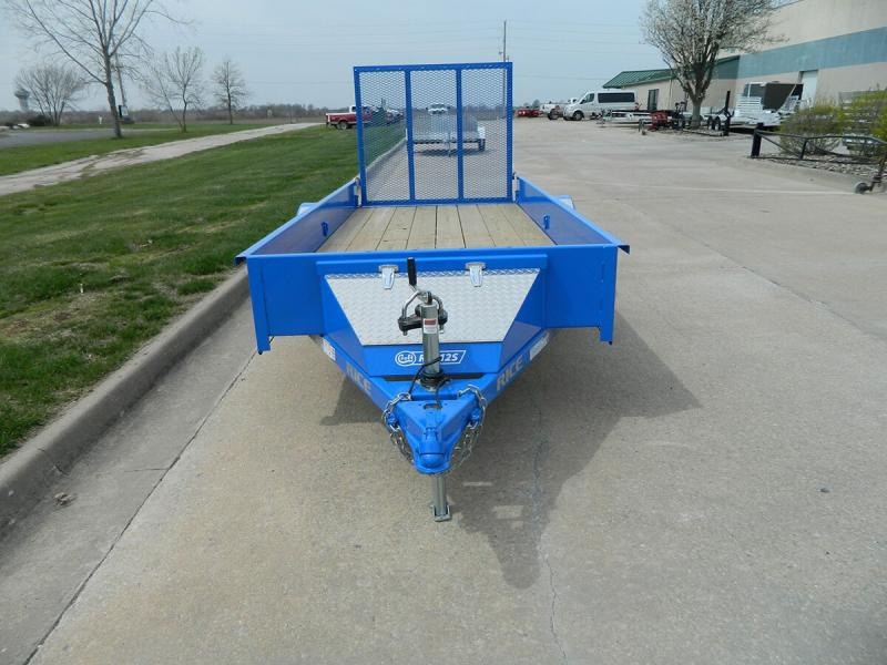 2020 Rice 5'x12' Stealth Solid Side Utility Trailer