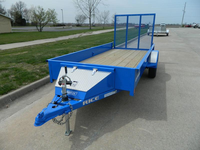 2019 Rice 5'x12' Stealth Solid Side Utility Trailer