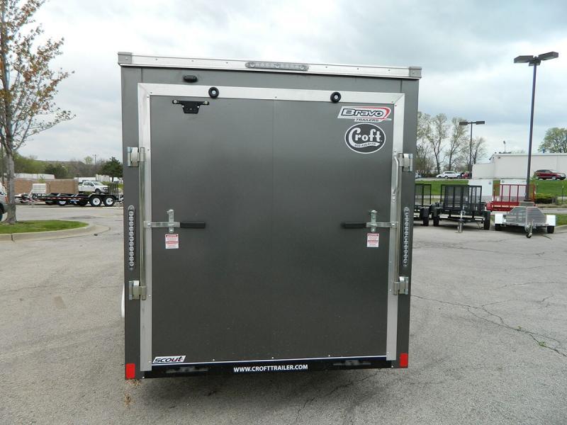 2020 Bravo 6'x12' SS Enclosed w/ Ramp Door