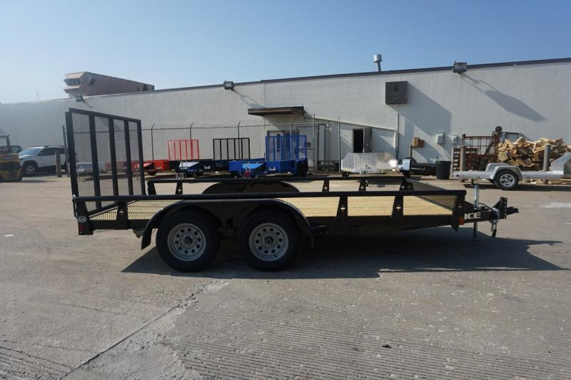 "2019 Rice 82""x14' Pipe Top Utility Trailer"